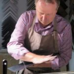 Nachpolieren Kupferdrucker Christoph Falk