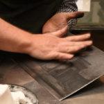 Nachpolieren Kupferdruck in der Berliner Bilder Galerie