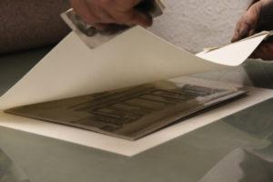 Mit Buettenpapier bedecken Kupferdrucker Christoph Falk
