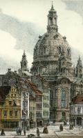 Radierung Frauenkirche